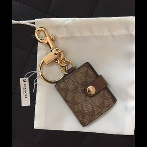 Coach picture frame bag key Fob chain